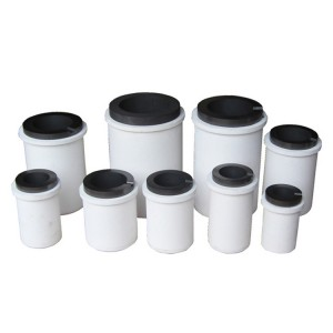 Factory sale ceramic graphite crucible for casting, carbon sulfur crucible