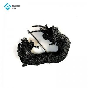 Carbon graphite rope