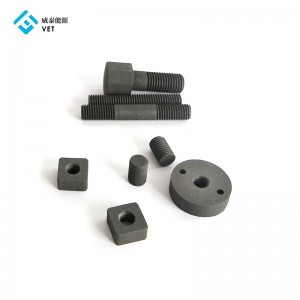 Graphite nuts and bolts for vacuum furnace industry