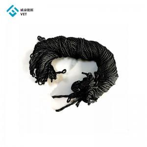 Graphite/Carbon Fiber Braided Cord for Vacuum Furnaces